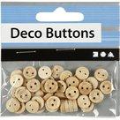 403011 Blanke houten knoopjes 8 mm
