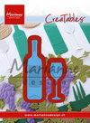 Creatables stencil wine bottle & glass