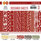CDDSRD003 Card Deco Designer Sheets Autumn Colors rood