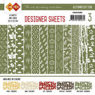 CDDSMG03 Card Deco - Designer Sheets - Autumn Colors-Mosgroen