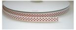 Wit grosgrain lint met rode stipjes
