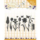 PM10115 Snijmal  Precious Marieke - Early Spring  Flowers and Butterfly Dies