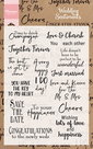 Clear stamp wedding sentiments UK