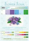 25.4063 Flower foam assortment set 2 blue-violet
