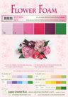 25.4094 Flower foam assortment set 5 red-pink