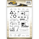 ADCS10035 Clearstamps Amy Design - Daily Transport - afbeeldingen