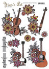 CD11090 3D knipvel - Yvon's Art Factory - Music