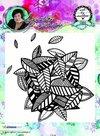 Studio Light Cling Stamp achtergrond Art By Marlene nr.10 STAMPBM10 14x14cm