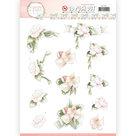 SB10285 3D Pushout - Precious Marieke - Flowers in Pastels - Believe in Pink