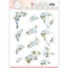SB10284 Stansvel Precious Marieke - Flowers in Pastels - Blue Dreams