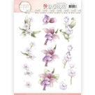 SB10282 Stansvel Precious Marieke - Flowers in Pastels - Lilac Mist