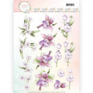 CD11140 3D Knipvel - Precious Marieke - Flowers in Pastels - Lilac Mist
