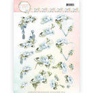 CD11141 Knipvel Precious Marieke - Flowers in Pastels - Blue Dreams