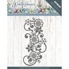 PM10142 Dies - Precious Marieke - Winter Flowers - Snowflake flower swirl