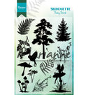 CS1013 Clearstamps Silhouette fairy forest