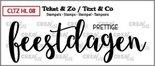 Crealies Clearstamp Tekst & Zo prettige feestdagen (dicht) CLTZHL08