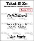 Crealies Clearstamp Tekst&Zo Jarig 14 (NL) 33 mm
