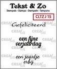 Crealies Clearstamp Tekst&Zo Jarig 15 (NL) 33 mm CLTZJ15