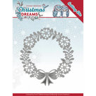 YCD10143 Snijmal Yvonne Creations Christmas Dreams - Poinsettia Wreath