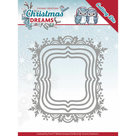 YCD10142 Snijmal Yvonne Creations  Christmas Dreams - Snowflake Rectangle
