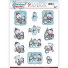 SB10274 Stansvel Yvonne Creations - Christmas Dreams - Bears