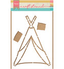 PS8021 Craftstencil Tipi by Marleen