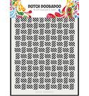 470.715.134 Dutch Doobadoo Mask Art stripe pattern los