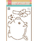 PS8027 Craftstencil Piggybank by Marleen
