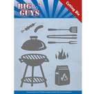 YCD10171 Dies - Yvonne Creations - Big Guys - BBQ time