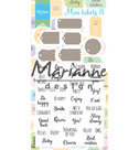 CS1029 Clear stamps and dies Mini labels EN