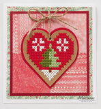 CR1482 Craftables snijmal Cross Stitch Heart vb