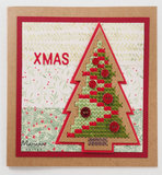 CR1481 Craftables snijmal Cross Stitch Christmas Tree vb