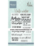 CS1036 Clearstamps Hallo winter by Marleen