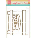 PS8048 Craftstencil Fire Place by Marleen