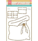PS8047 Craftstencil Presents bag by Marleen