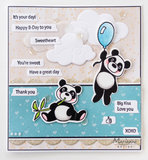 EC0179 Clearstamps - dies Eline's animals - Panda's vb
