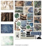 EASYDEN645 - Die Cut Paper Set Contents Background Paper + Photos + Labels & Extras nr.645
