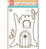 Marianne Design Craftstencil Treehouse by Marleen PS8073
