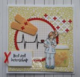 HT1661 Clearstamps and die Hetty's Nurse