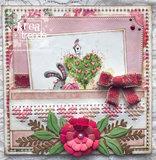 CR1531 Craftables Cross stitch border hearts