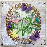 CraftEmotions Die - frame lang ovaal Cristal shine Card 10,5x14,8cm