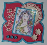 Voorbeeld Dutch Doobadoo shape art flower Ine Lambregts