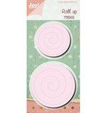 6002-0473 Snijmal Roll up Roses Spiral Noor!Design