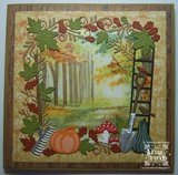 ADD10072 Snijmal Frame Autumn Moments Amy Design voorbeeld Linda Timpers