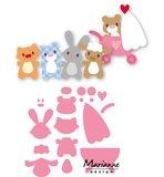 COL1422 Collectables snijmallen Eline baby animals