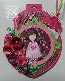 6002-0473 Snijmal Roll up Roses Spiral Noor!Design voorbeeld Ine Lambregts