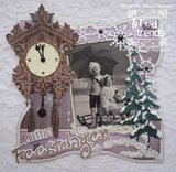 Craftables snijmal Marianne Design koekoeksklok CR1388:voorbeeld Henriëtte de Graaf