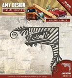 ADD10098 Die - Amy Design - Vintage Vehicles - Aircraft Corner
