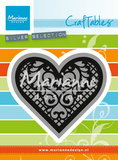 Craftables snijmallen lace heart
