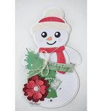 PS8018 Craft stencils Snowman by Marleen voorbeeld